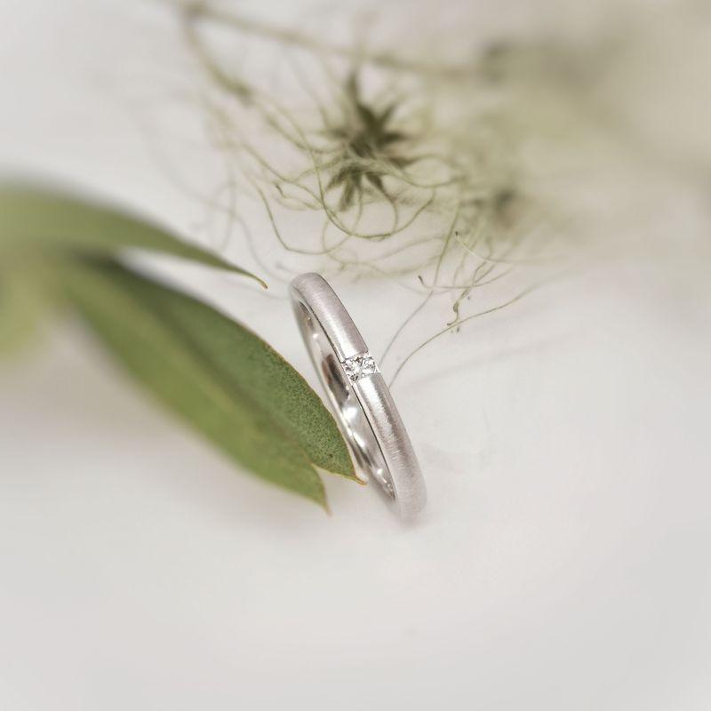 Verlobungsring Weissgold mit Brillant
